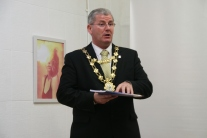 Mayor Cllr. Frank Fahy launching 'A Vision for Galway 2030' on 28th November 2015 at the Galway 2020 Hub, The Cornstore, Middle Street, Galway